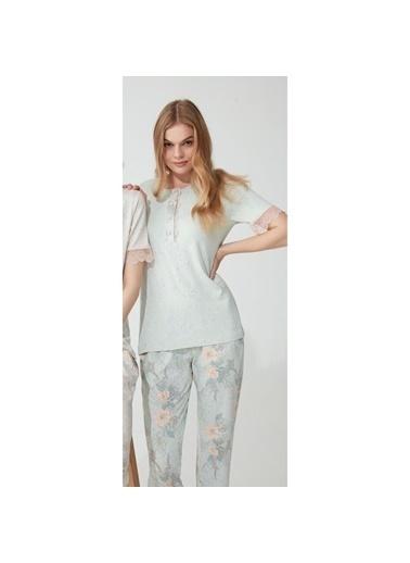 Feyza Pijama Takım Yeşil